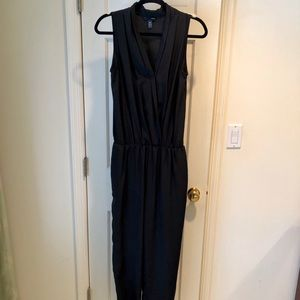 Aqua from Bloomingdale's Black Sleeveless Jumpsuit